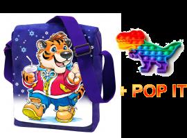 Сумка-планшет Тигр с Игрушкой Pop-it