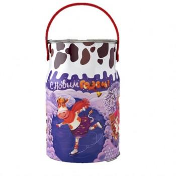 Новогодний подарок со сладостями Веселые буренки