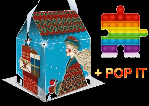 Новогодний подарок Зимушка с пупыркой Поп ит